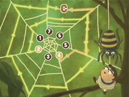 Professeur Layton et l'appel du spectre : Solution de l'énigme 048 : La toile d'araignée