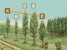 Professeur Layton et la Boite de Pandore : Solution énigme 34 : D'un arbre à l'autre