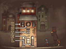 Professeur Layton et la Boite de Pandore : Solution énigme 61 : Hôtel caché