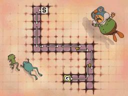 Professeur Layton et la Boite de Pandore : Solution énigme 88 : Rando grenouille