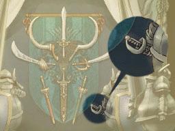 Professeur Layton et la Boite de Pandore : Solution énigme 137 : L'épée du guerrier