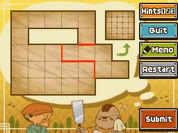 Professeur Layton et le Destin perdu : Solution de l'énigme 53 : Coupe au carré 2