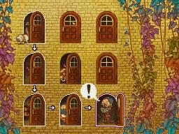 Professeur Layton et le Destin perdu : Solution de l'énigme 99 : Porte à porte