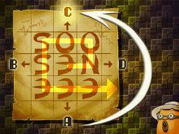 Professeur Layton et le Destin perdu : Solution de l'énigme 116 : Course d'orientation
